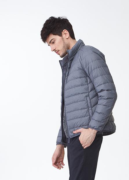 輕羽絨立領外套