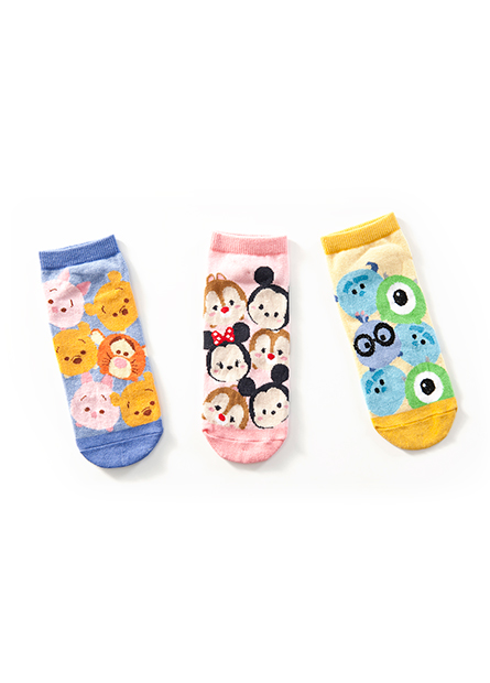 女TSUM TSUM踝襪(三入)