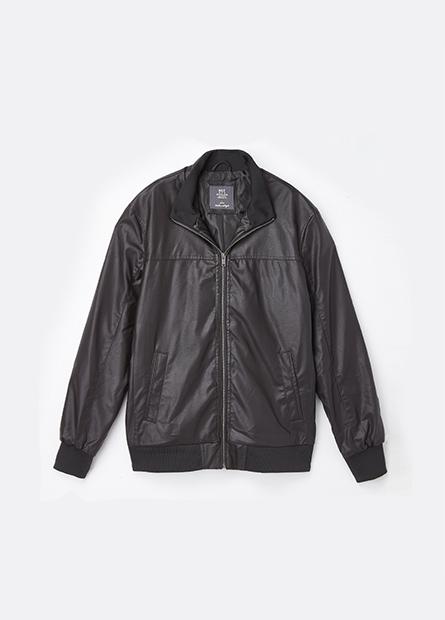 立領羅紋縮口外套