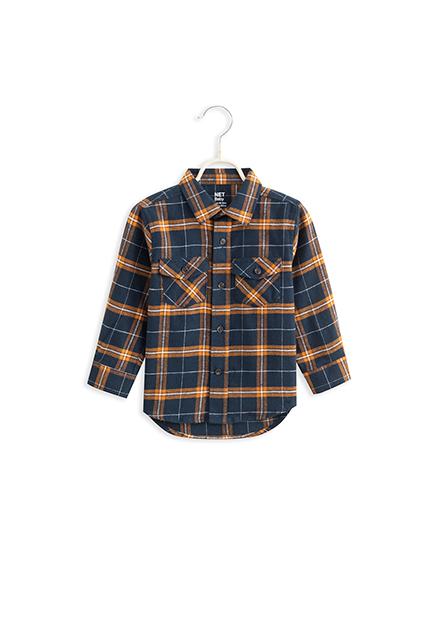 男嬰法蘭絨格紋襯衫