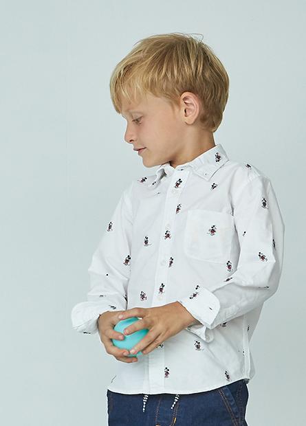 男童滿版米奇牛津襯衫