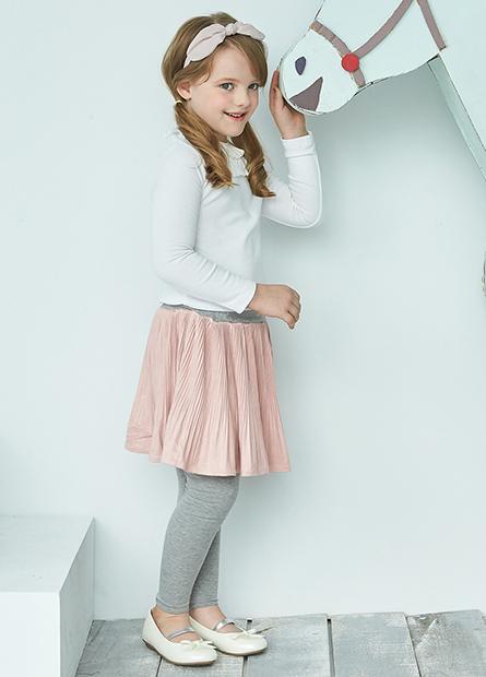 女童麂皮襯裙長褲