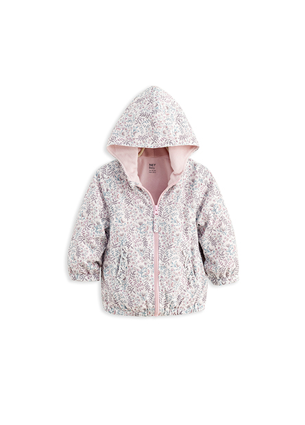 女嬰內刷毛連帽外套