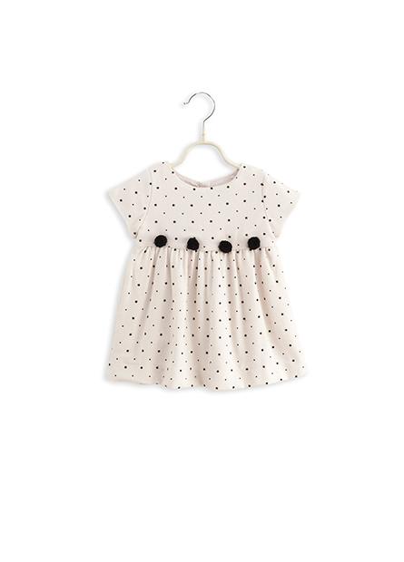 女嬰星星圓點毛球洋裝