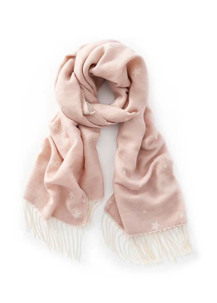 提花流蘇圍巾