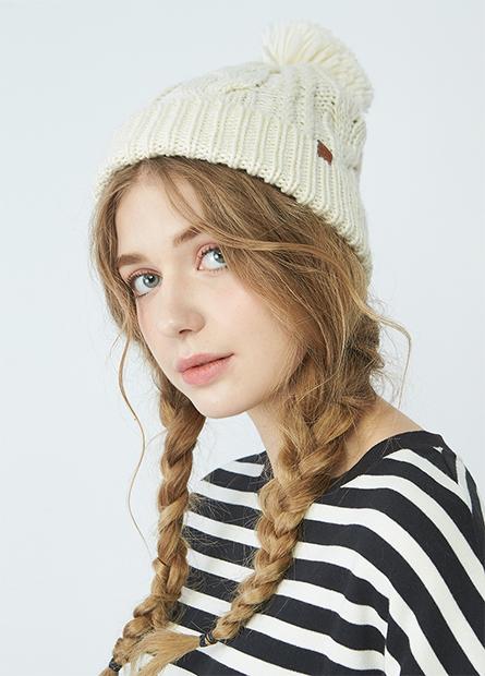 麻花毛線帽