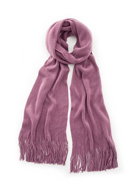 素色流蘇圍巾
