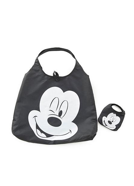 米奇米妮格紋收納購物袋