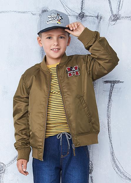 男童米奇繡章鋪棉外套