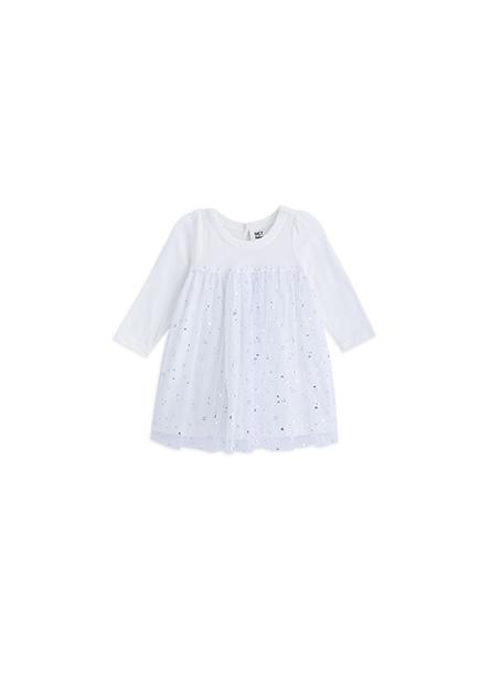 女嬰剪接紗裙洋裝