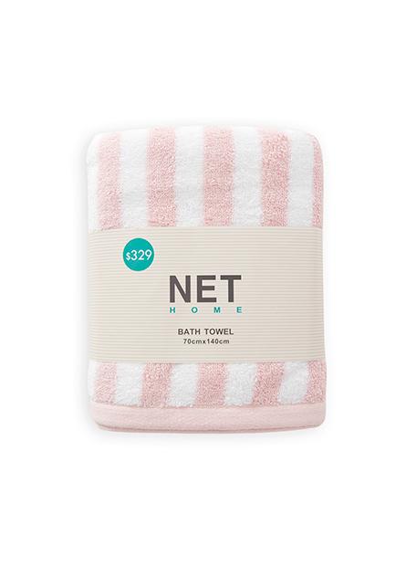 純棉條紋浴巾