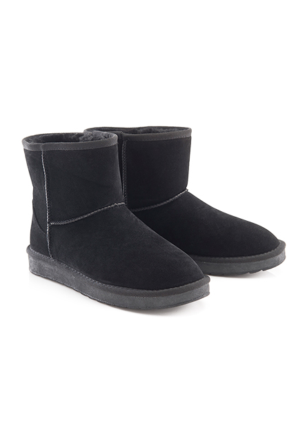 女仿羊絨布低筒雪靴