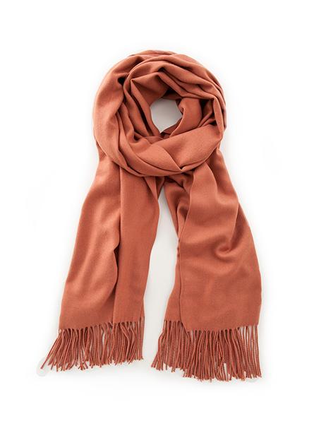 超柔手感素色流蘇圍巾