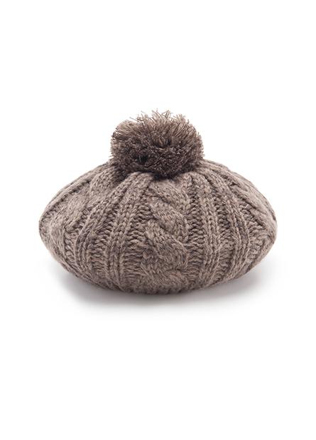 毛球毛線貝蕾帽