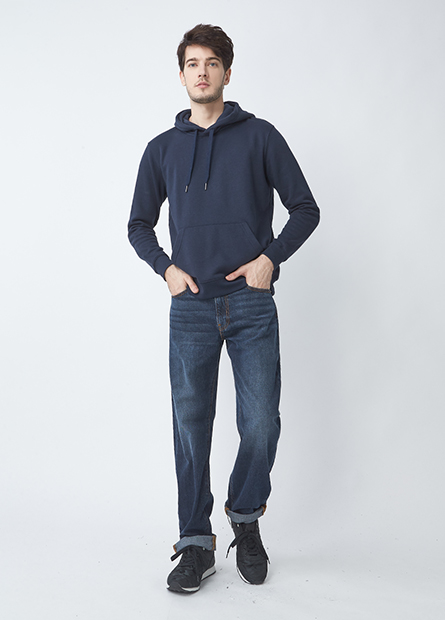 Regular Fit素色牛仔長褲