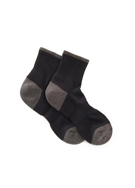 男羅紋抗菌短襪(二入)