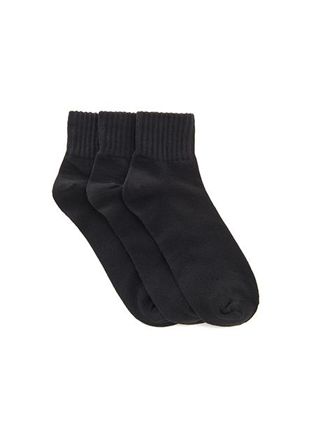 男羅紋短襪(三入)