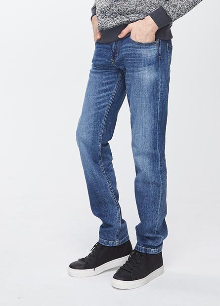 Slim Fit直筒牛仔長褲
