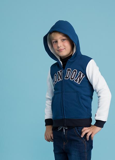 男童內刷毛連帽外套