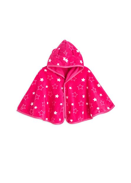 女嬰刷毛披風連帽外套