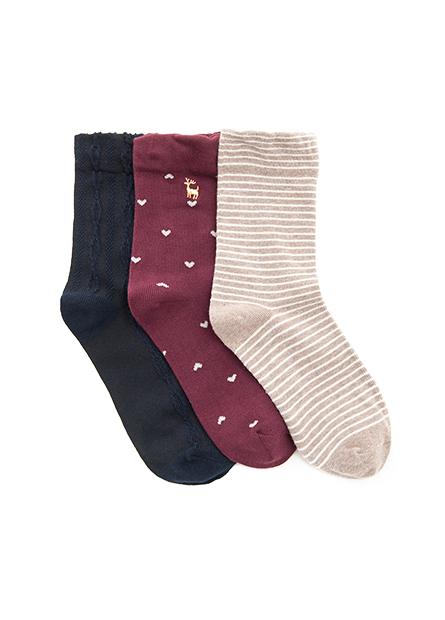 女無痕襪口短襪(三入)