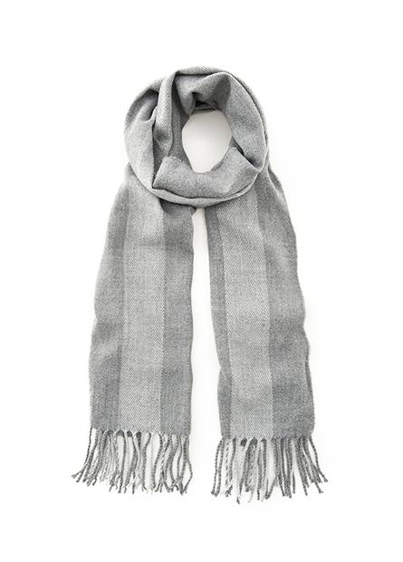 窄版鬚邊流蘇圍巾