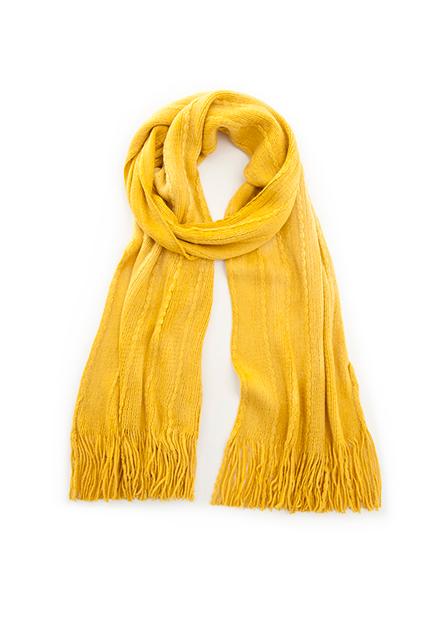 素色辮織流蘇圍巾