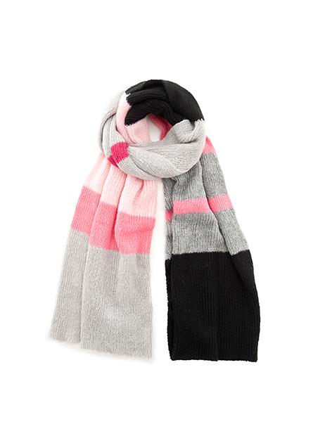彩色配條圍巾