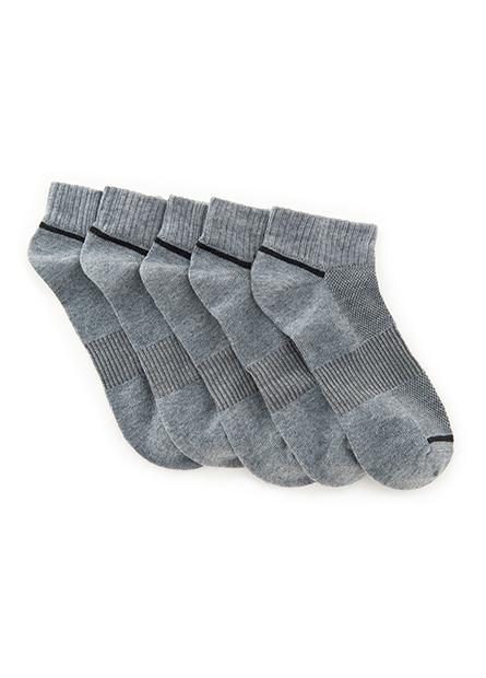 男配色踝襪(五入)