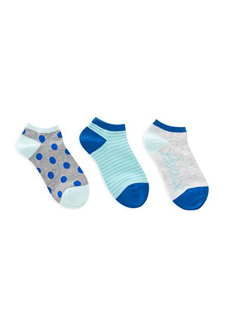 女提花踝襪(三入)