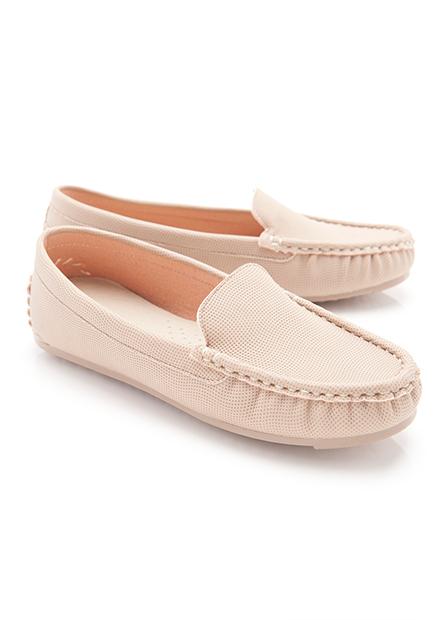 女素色豆豆鞋