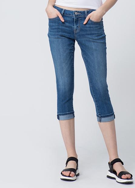 Slim Fit七分牛仔長褲