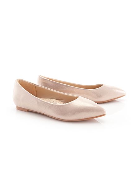 女素色尖頭械型鞋