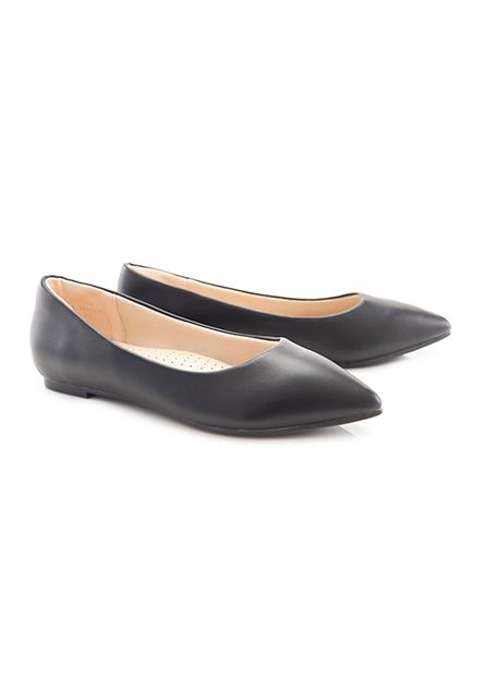 女素色尖頭低跟鞋