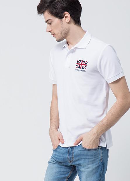 英國旗右臂數字POLO衫