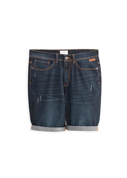 Slim Fit直筒牛仔短褲