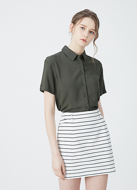 Regular fit商務短裙