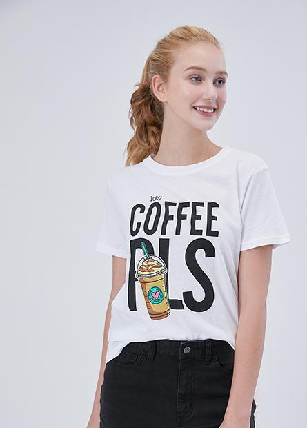 飲料插畫字母T