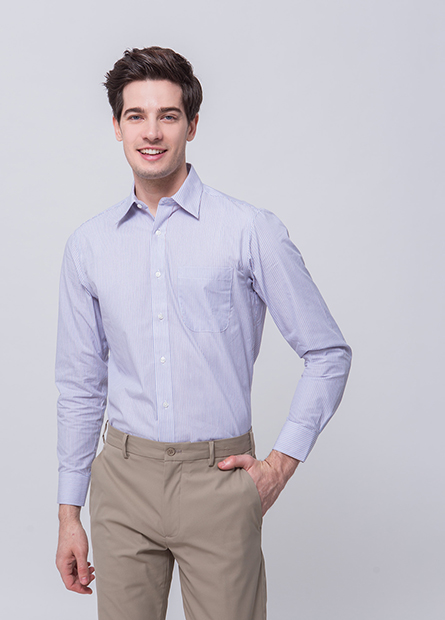 Regular Fit口袋長袖襯衫