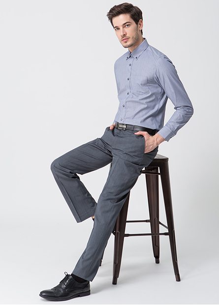 Slim Fit鈕釦領防皺襯衫