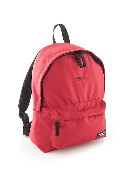 素色繡字印標後背包