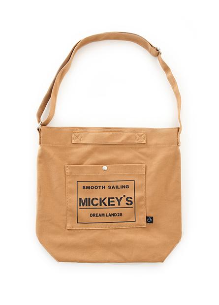 米奇字母前口袋帆布包