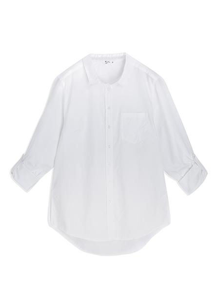 單口袋捲釦長袖襯衫