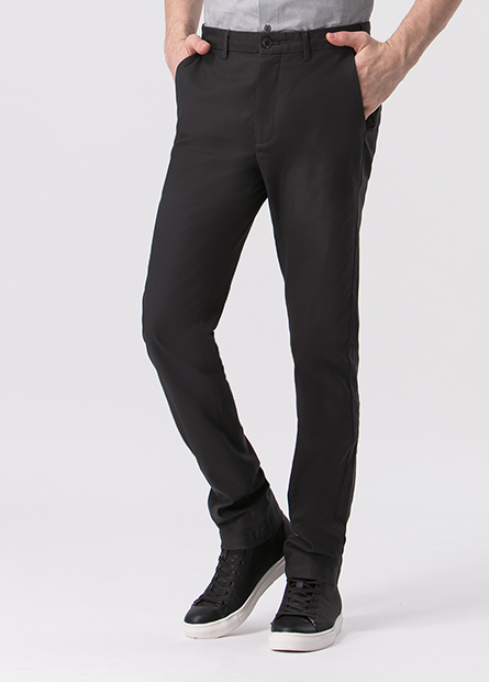 Slim Fit平口袋長褲