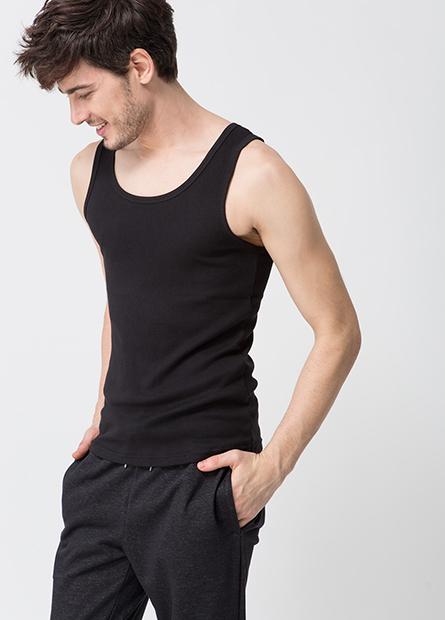 素色窄肩挖背背心