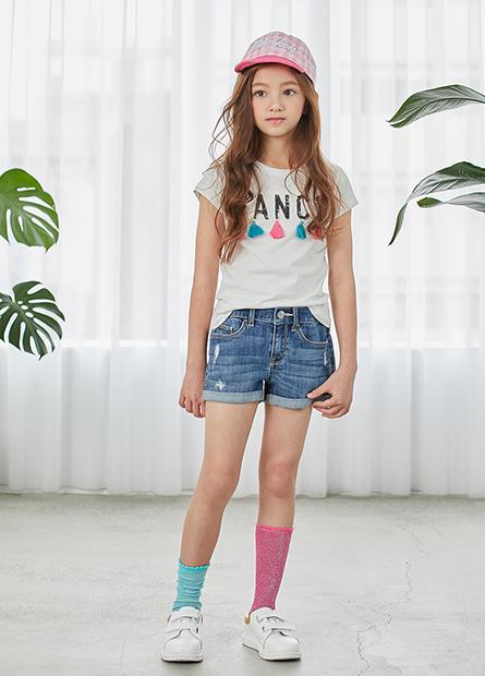 女童牛仔短褲