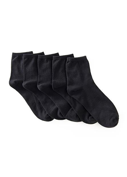女素色短襪(五入)