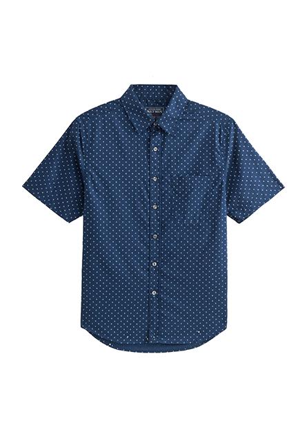 單口袋短袖襯衫