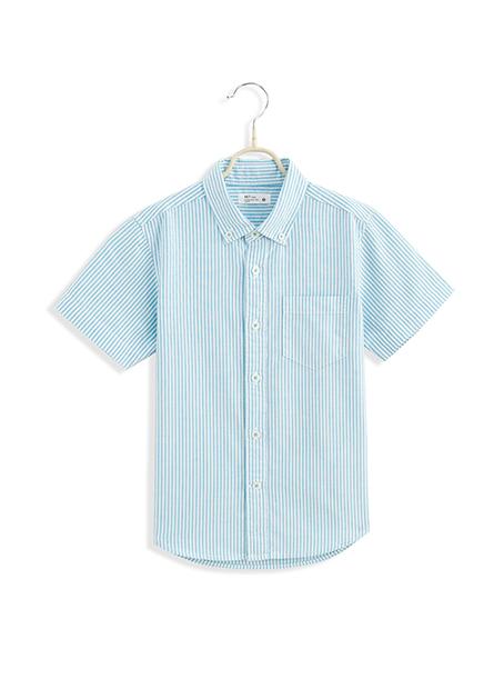 男童鈕釦領短袖襯衫