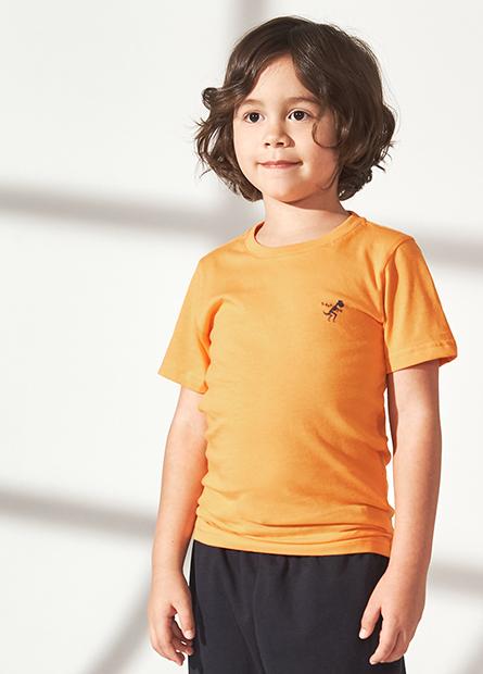 男童恐龍骨骼印花上衣